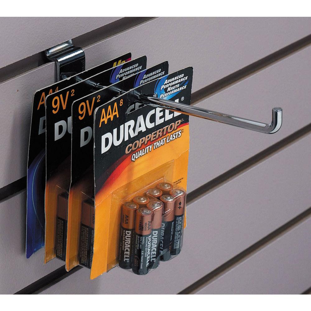 """4"""" 90 Degree Tip Slatwall Hangers"""