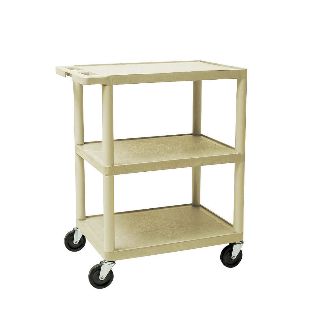 34x24 Putty Plastic Utility Shelf Cart