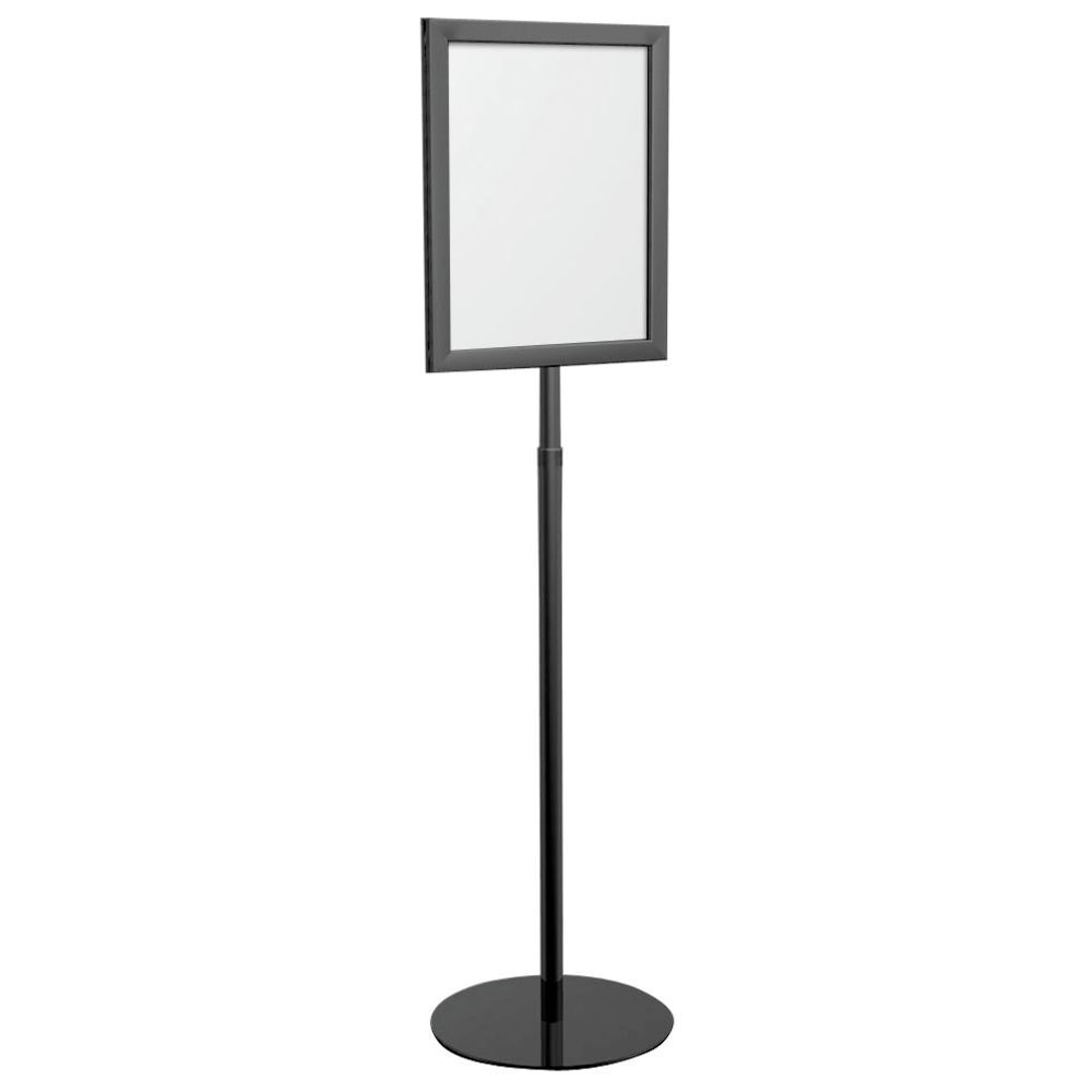 8 1/2 x 11 Pedestal Sign Holder Black