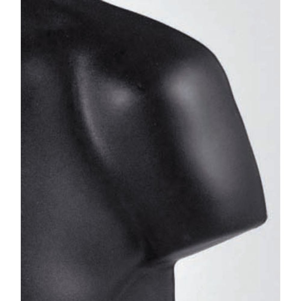Male Torso Mannequin, Black