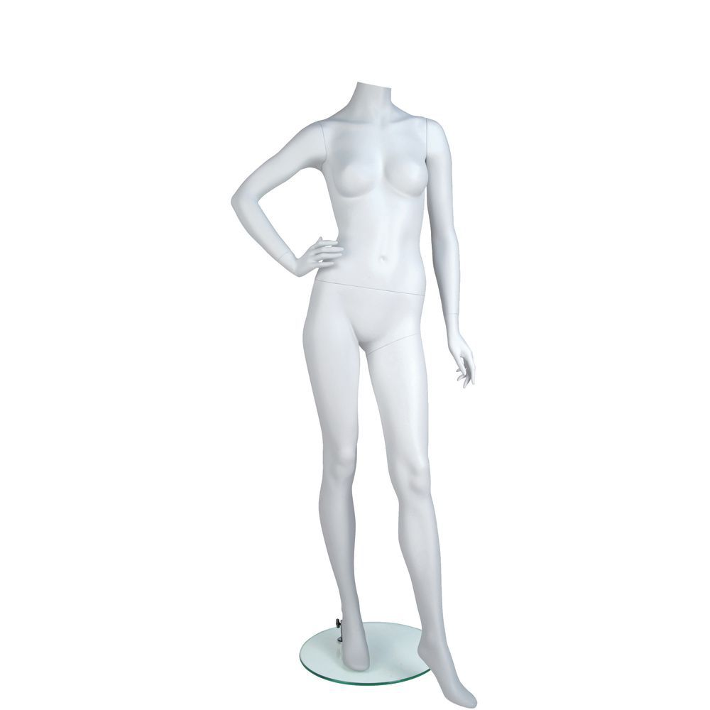 Hand on Hip White Female Mannequin Body