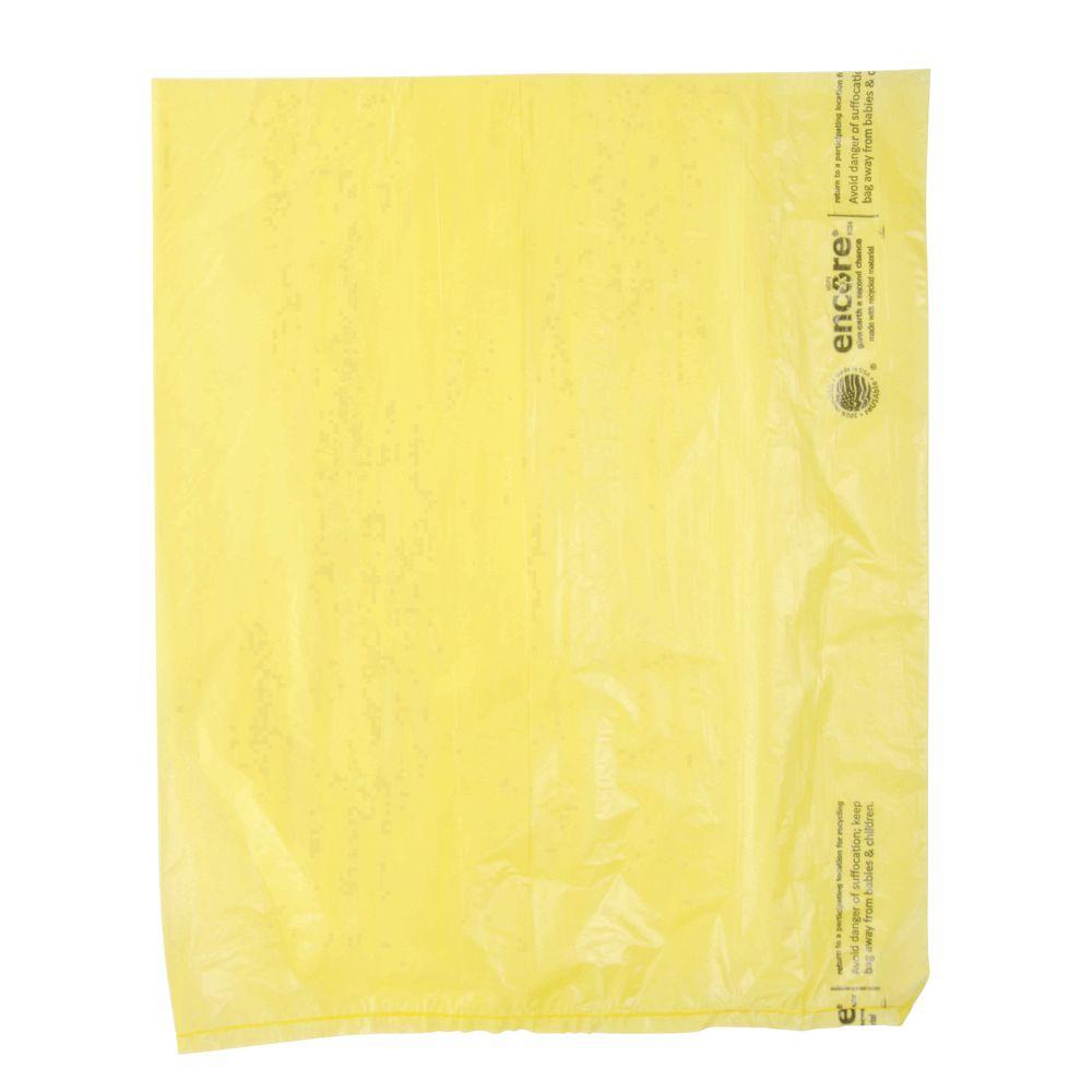 CO BAG, HD COLORED PLASTIC, 12X15, YEL