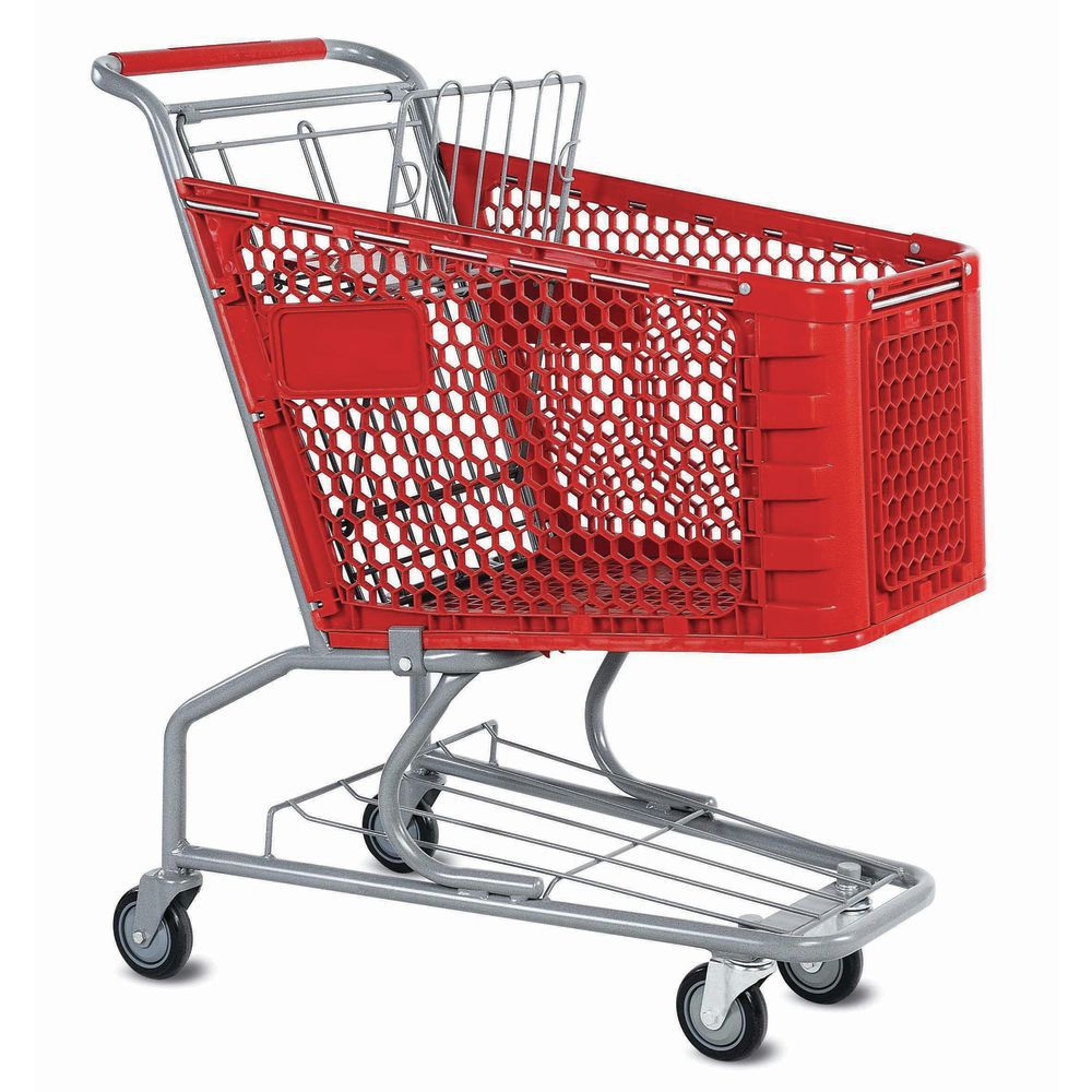 """Small Shopping Cart with 5"""" Casters"""