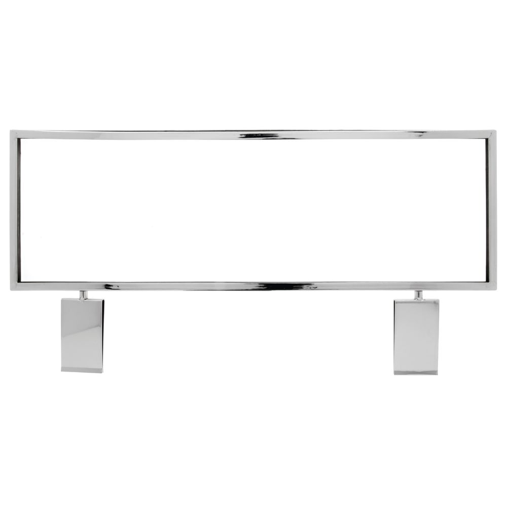 "22"" x 7"" Horizontal Metal Grid Sign Holder, Chrome"