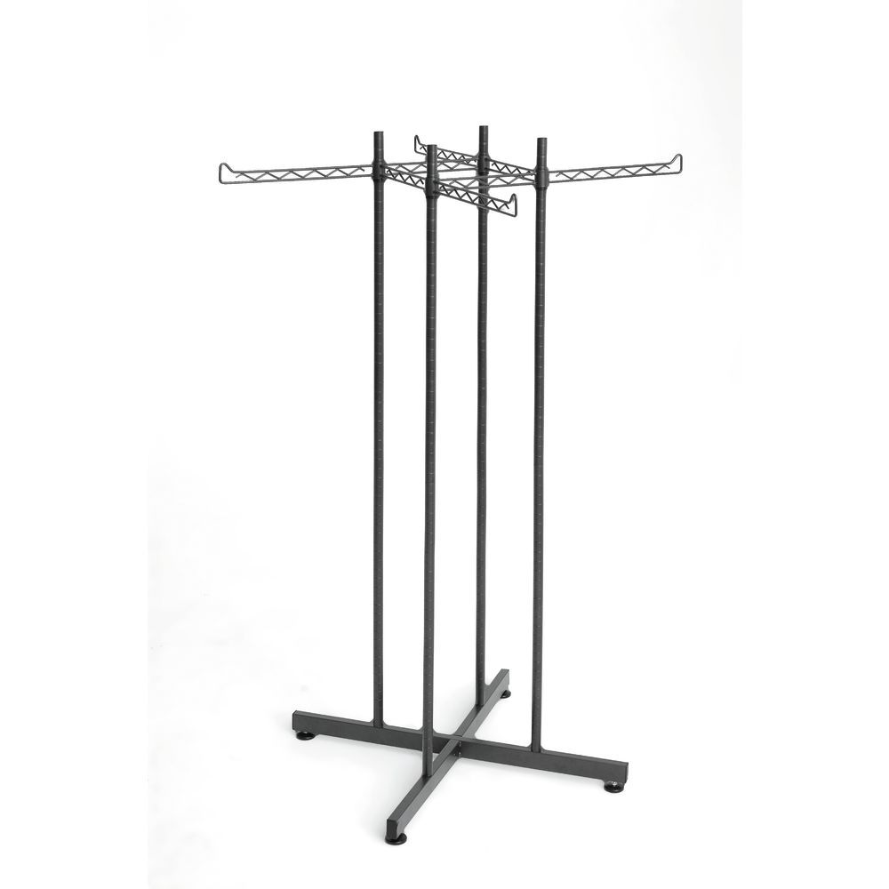 4 Way Clothing Rack is a Versatile Fixture for hanging Women's or Men's Merchandise