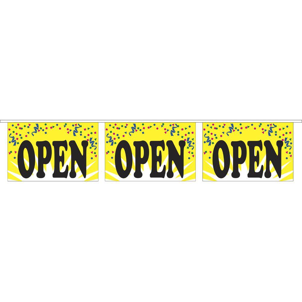 """""""Open"""" Pennant Banner"""
