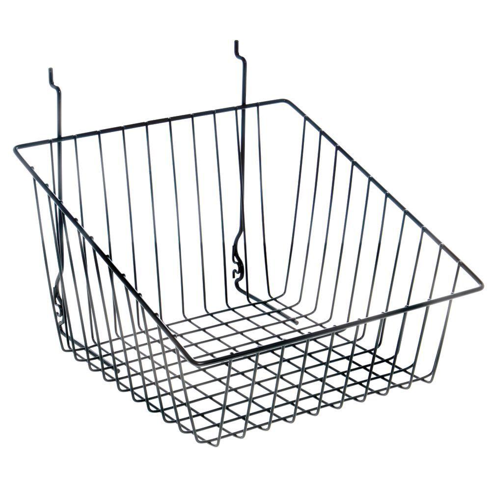 Black Tapered Slatwall Baskets