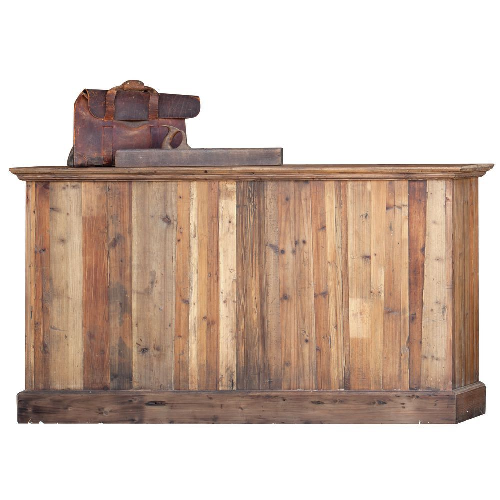 vintage retail counter reclaimed wood retail counter 3253