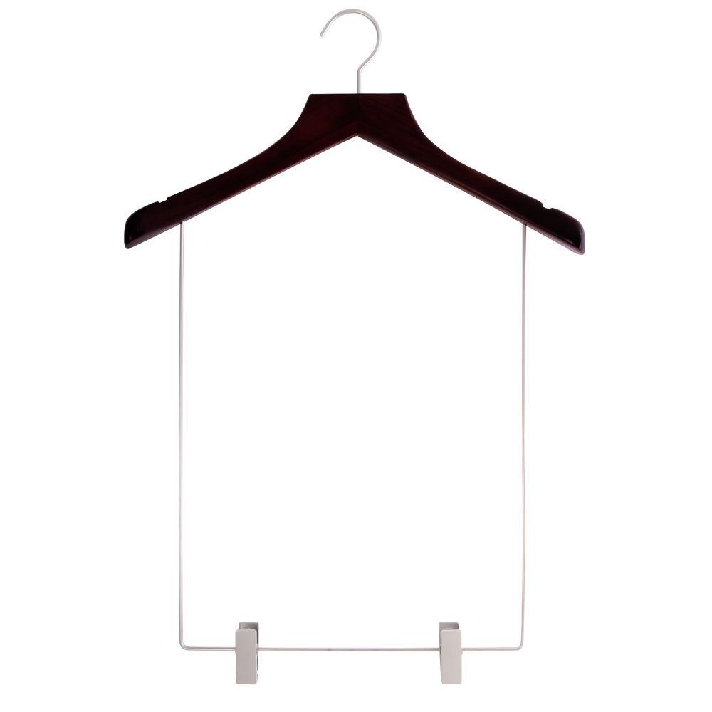 17 Black Wooden Hangers