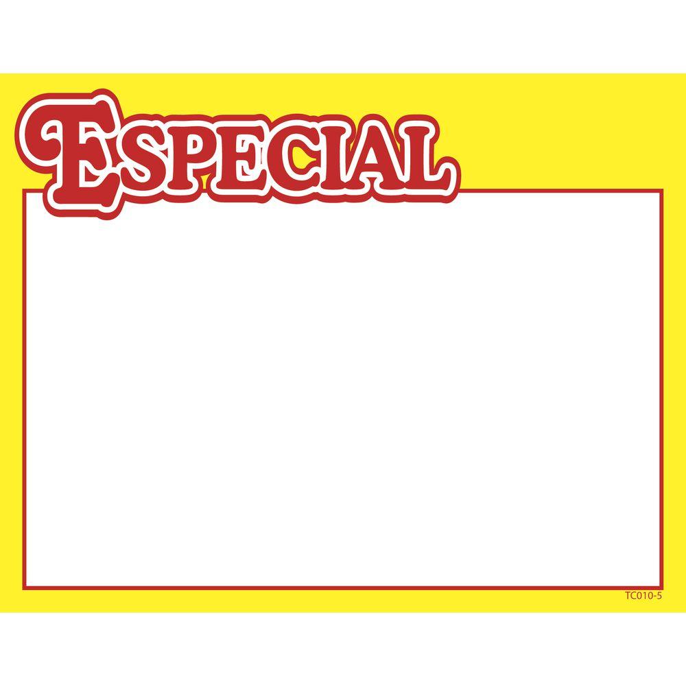 """""""Especial"""" Price Sign, 7 x 5 1/2"""