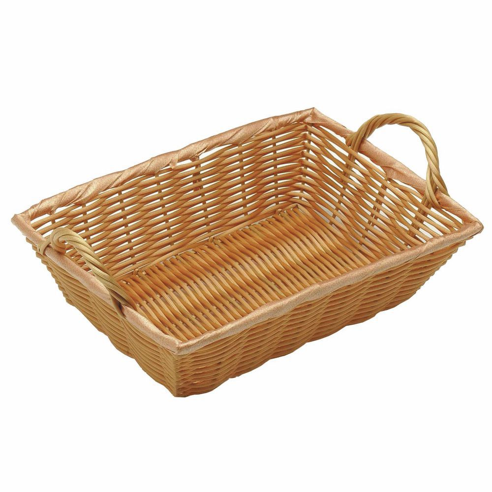 8 x 11 x 3 small wicker baskets with handles natural. Black Bedroom Furniture Sets. Home Design Ideas