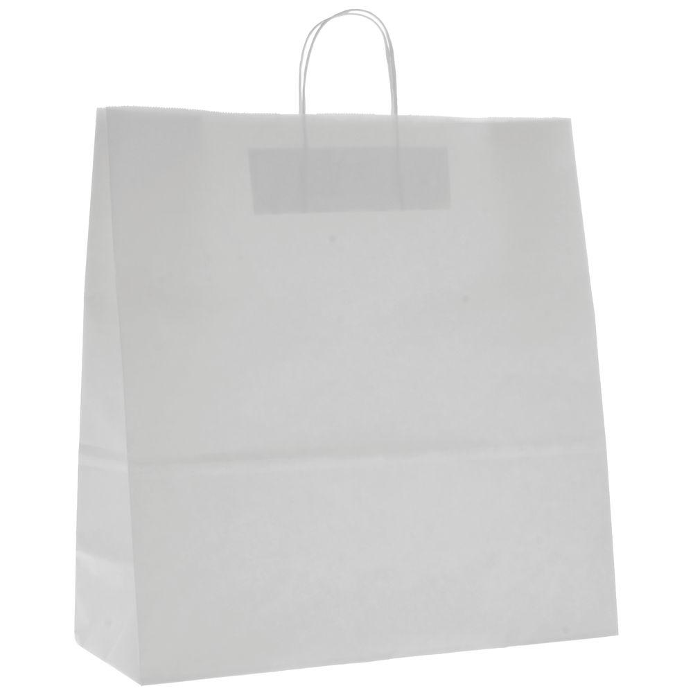 "White Paper Shopping Bags 16"" x 13"""