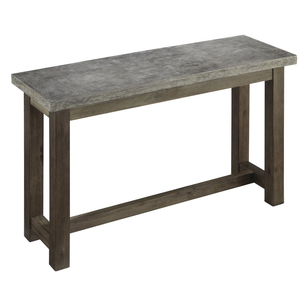 Ordinaire TABLE, TALL, CONCRETE CHIC, 48X16X28