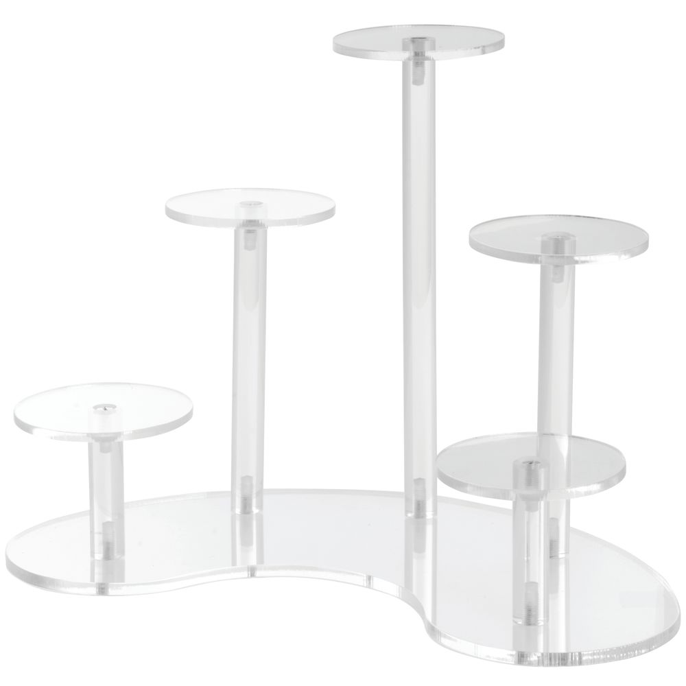 Acrylic Display Stands of Five Differing Heights