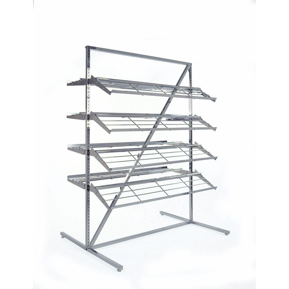 Shoe Display Rack Adjustable Shelves