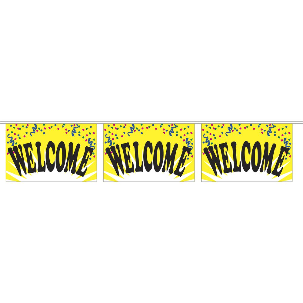 """""""Welcome"""" Pennant Banner"""