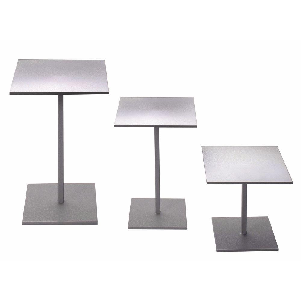 Taupe Metallic Display Risers Set of 3