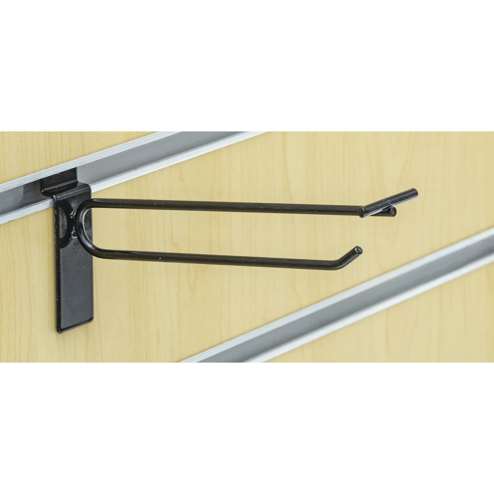 "SCANHOOK, SLATWALL, 6"", BLACK"