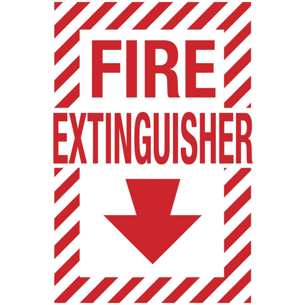 Plastic Fire Extinguisher Location Sign