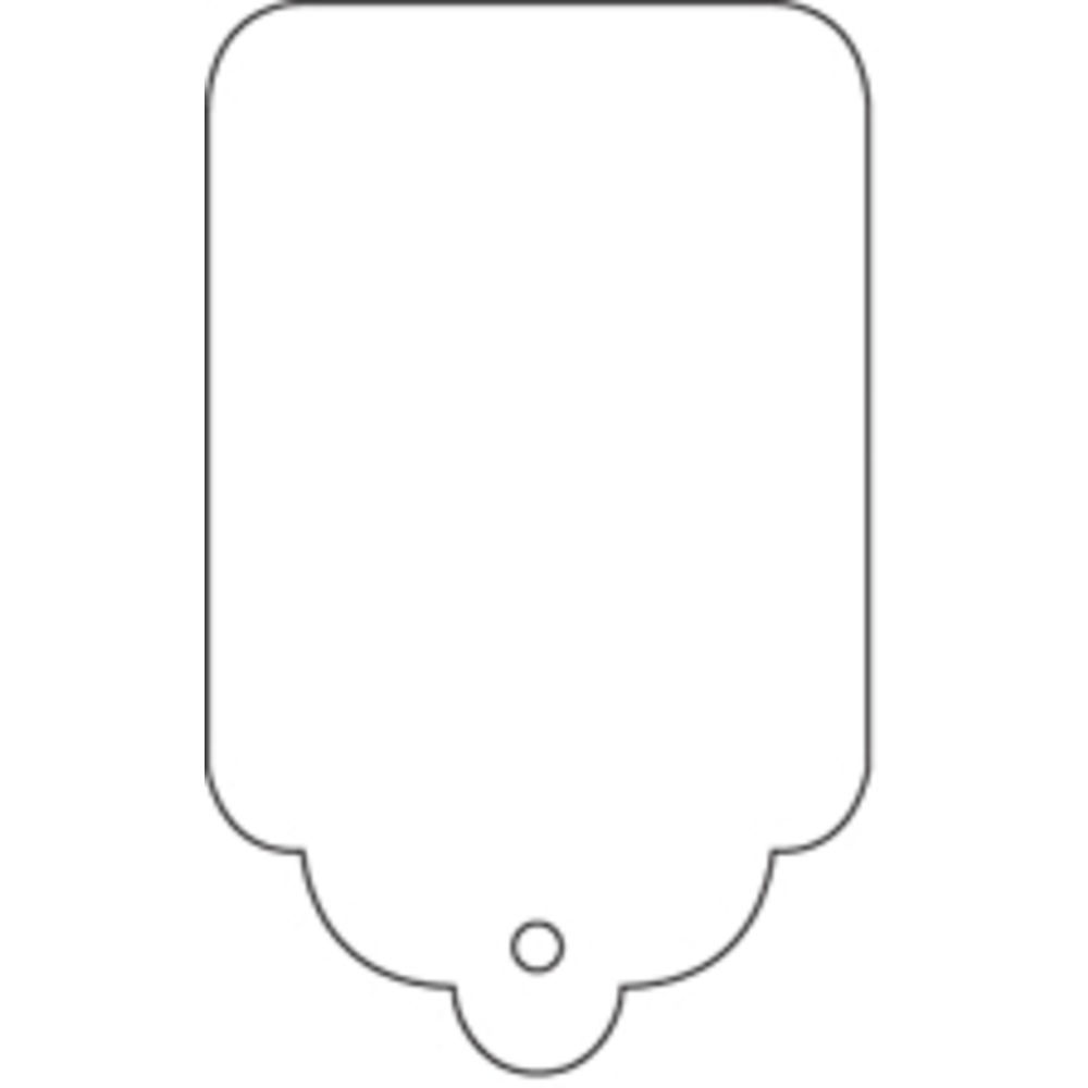 2 7/8 x 1 3/4 Pricing Tags, No String