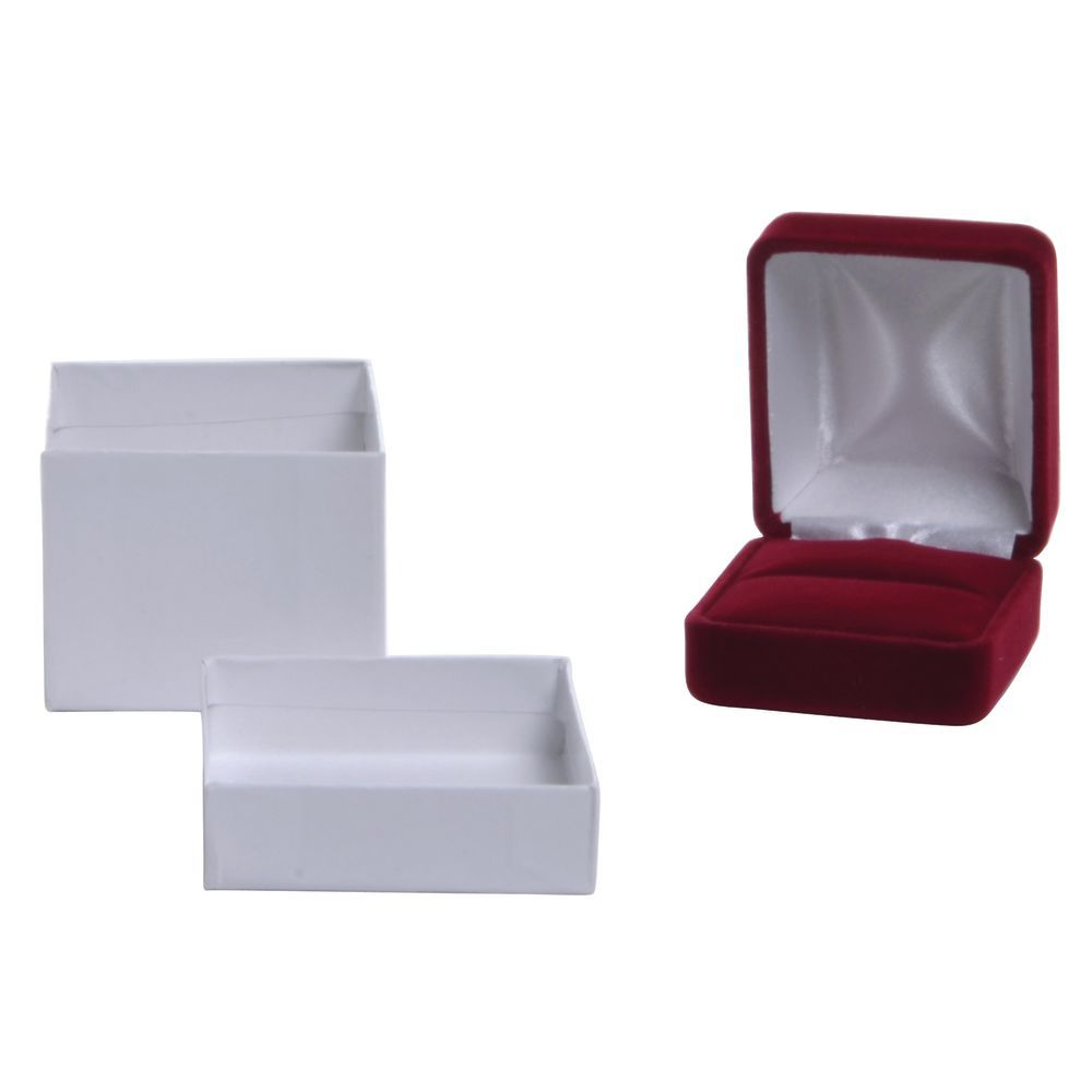 Velvet Ring Box Dior Red