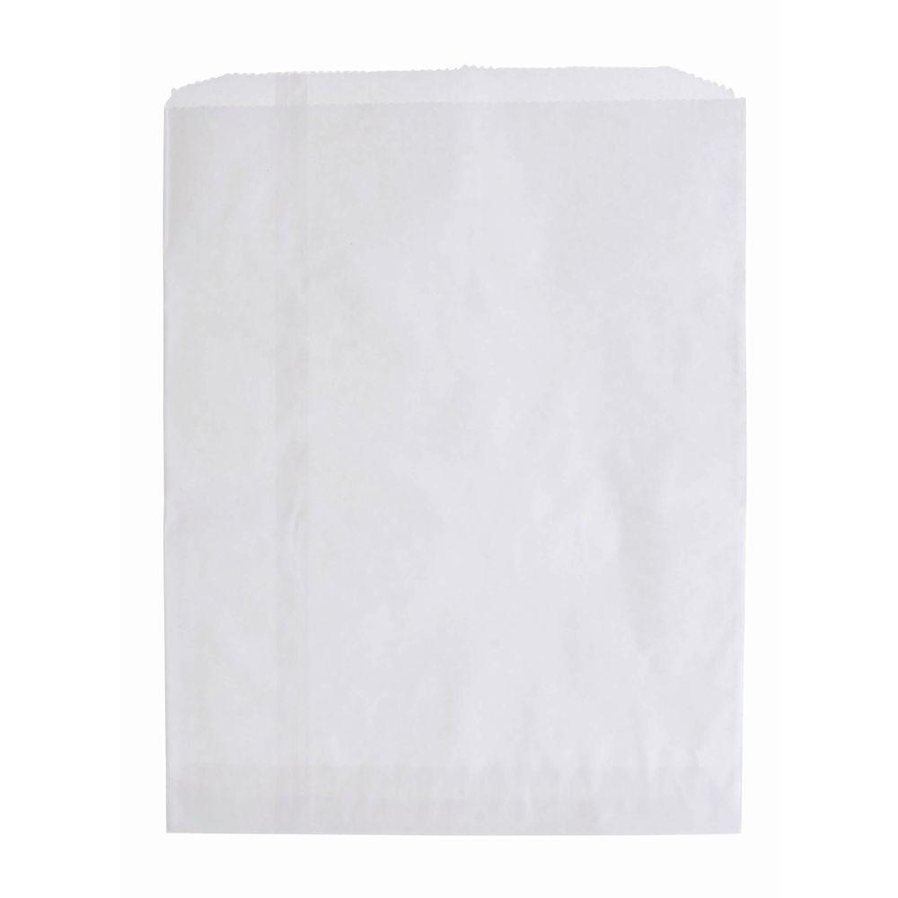 BAGS, FLAT MERCHANDISE, 8-1/2X11 WHITE