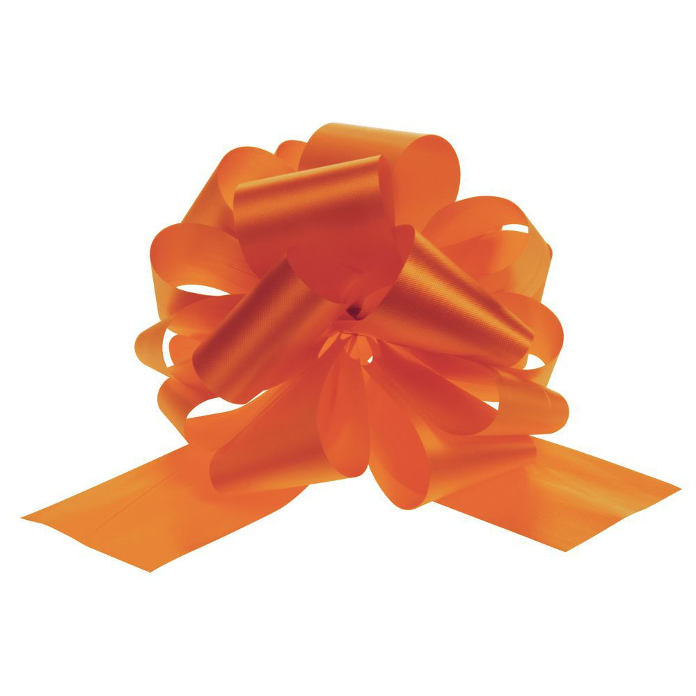 Large Tropical Orange Pull Bows