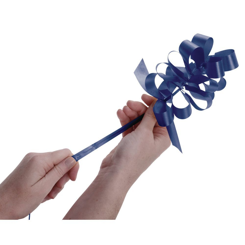 4 (W) Navy Blue Pull Bows