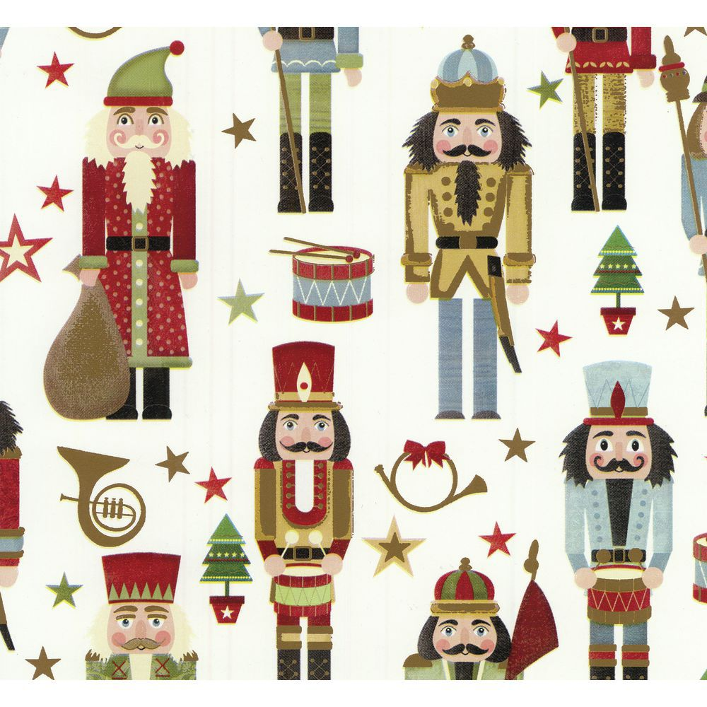 Nutcracker Holiday Wrapping Paper, Quarter Roll