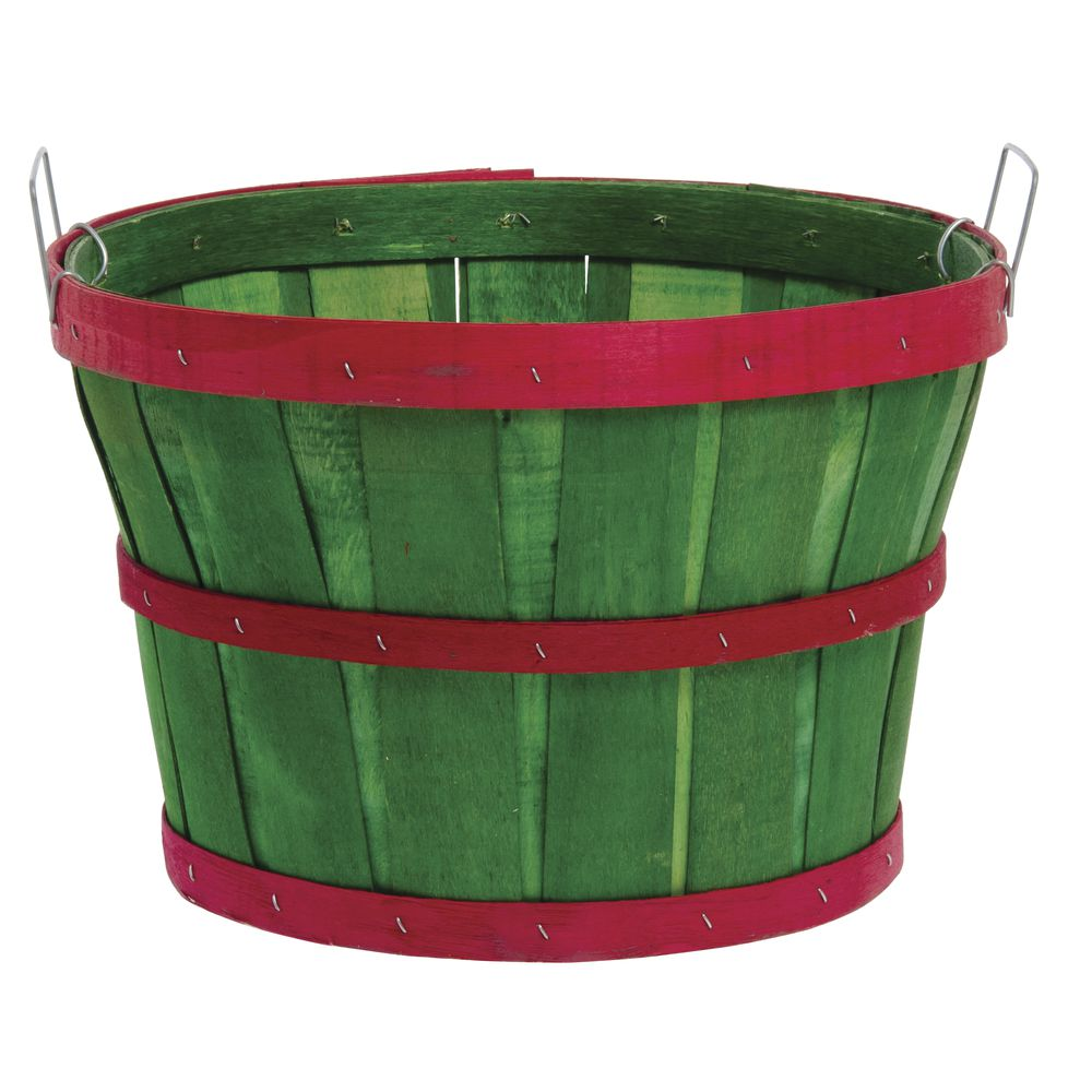 1/2 BUSHEL GREEN WITH RED BANDS