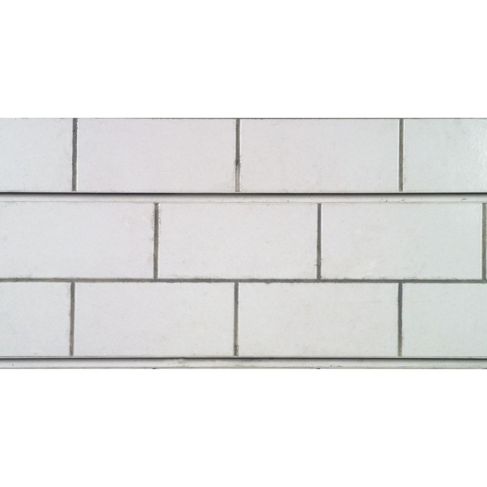 White Subway Tile Slatwall Panels, 8 x 2