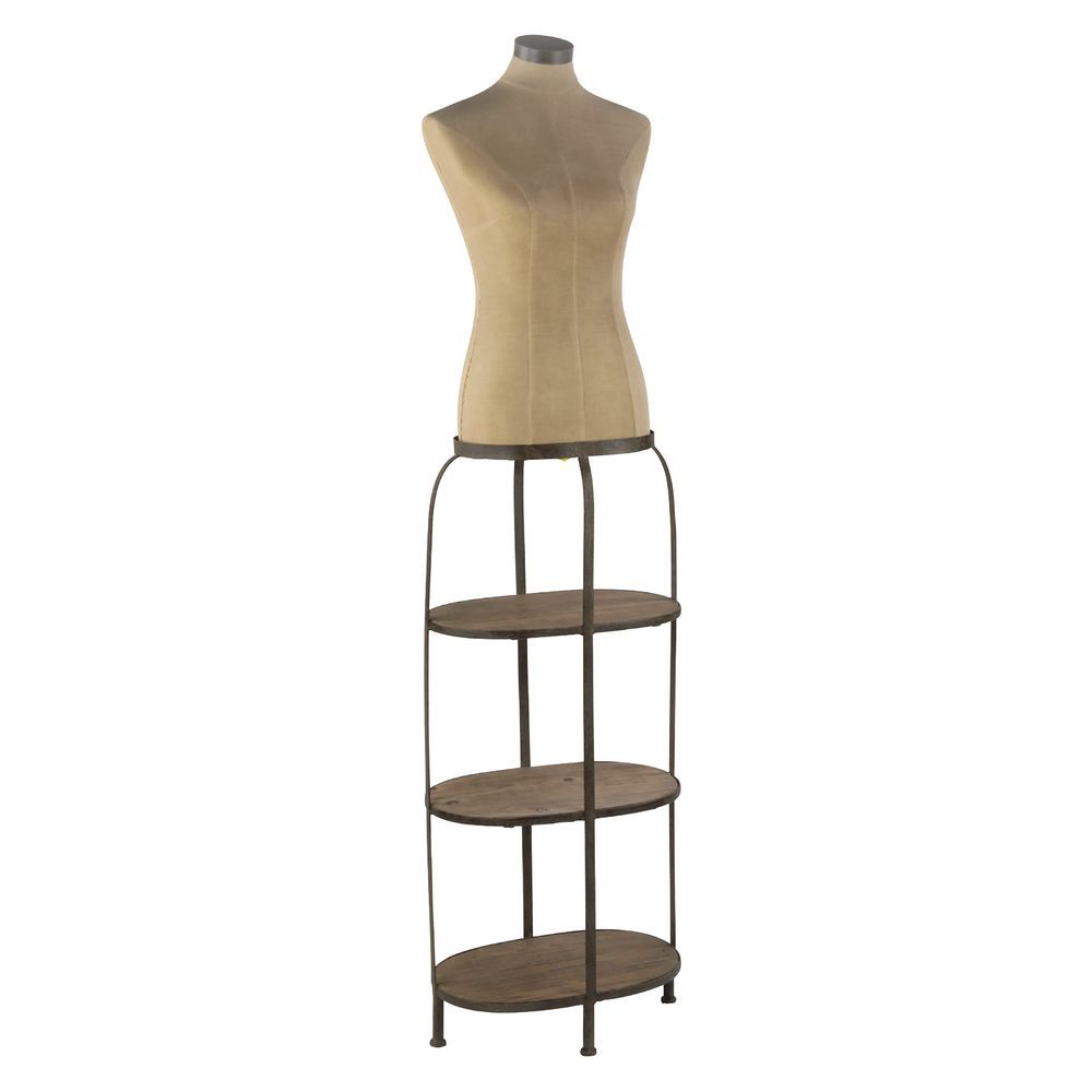 "SHELF, W/BODY FORM, FEMALE, VINTAGE, 68""H"