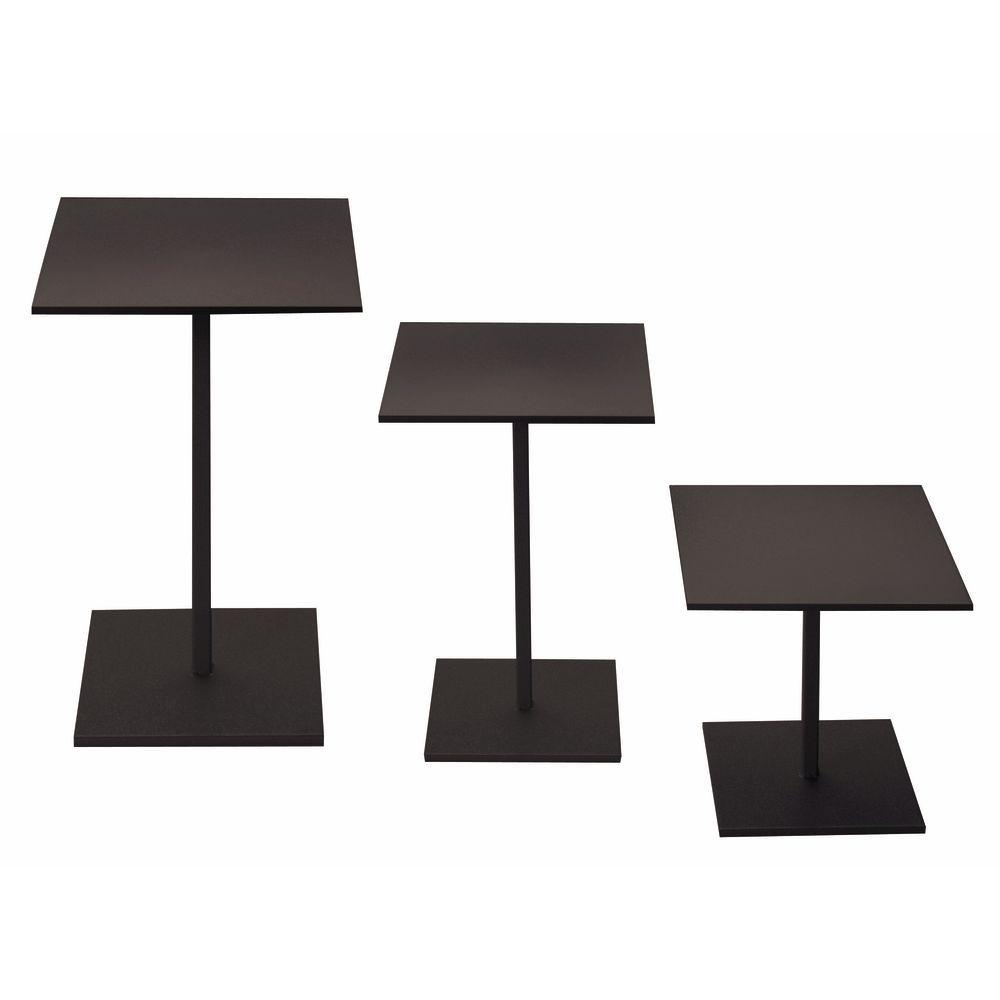 Black Display Risers Set of 3