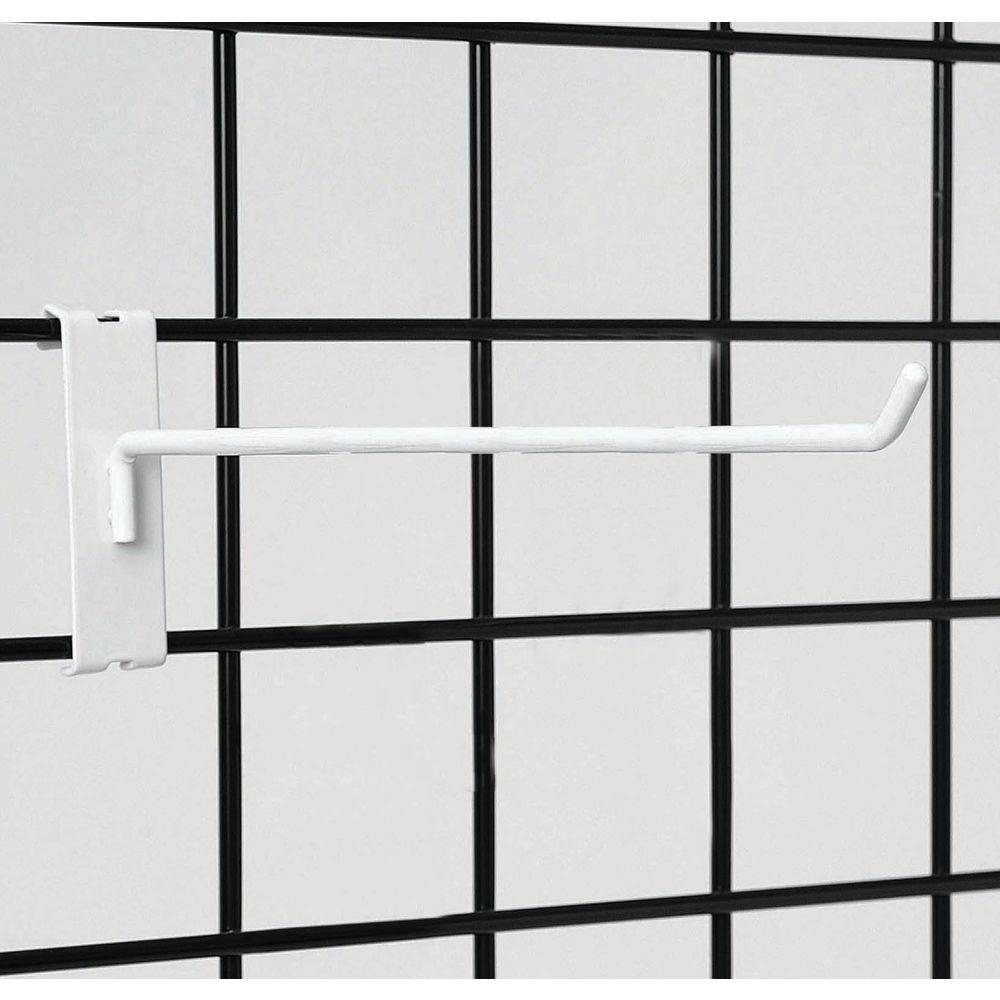 White Grid Wall Hooks