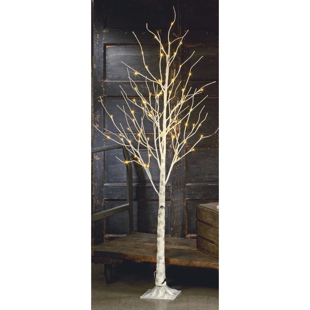Large LED Birch Tree, White