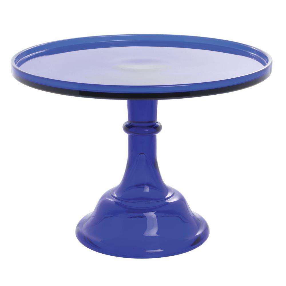 CAKE STAND, GLASS, 12DIAX9H, COBALT BLUE