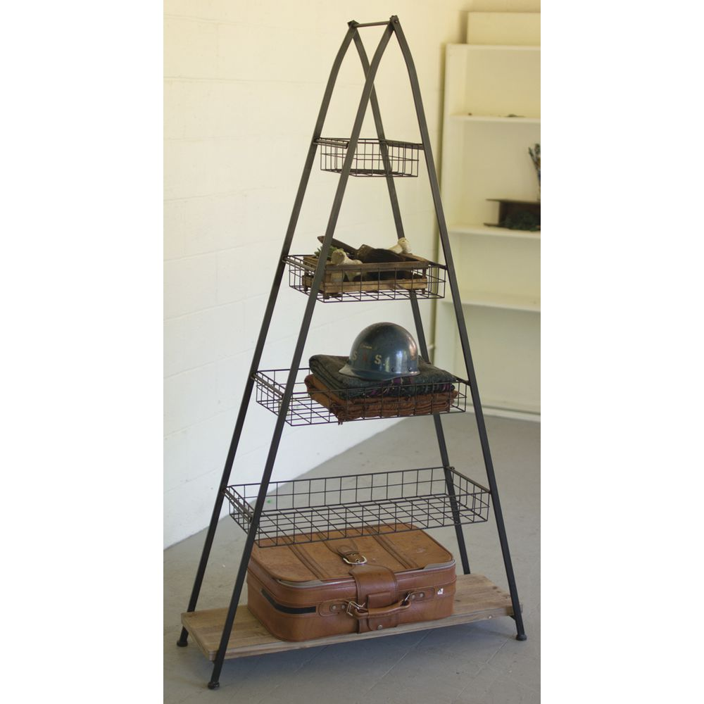 Steel Frame Towers : Metal a frame tower with baskets