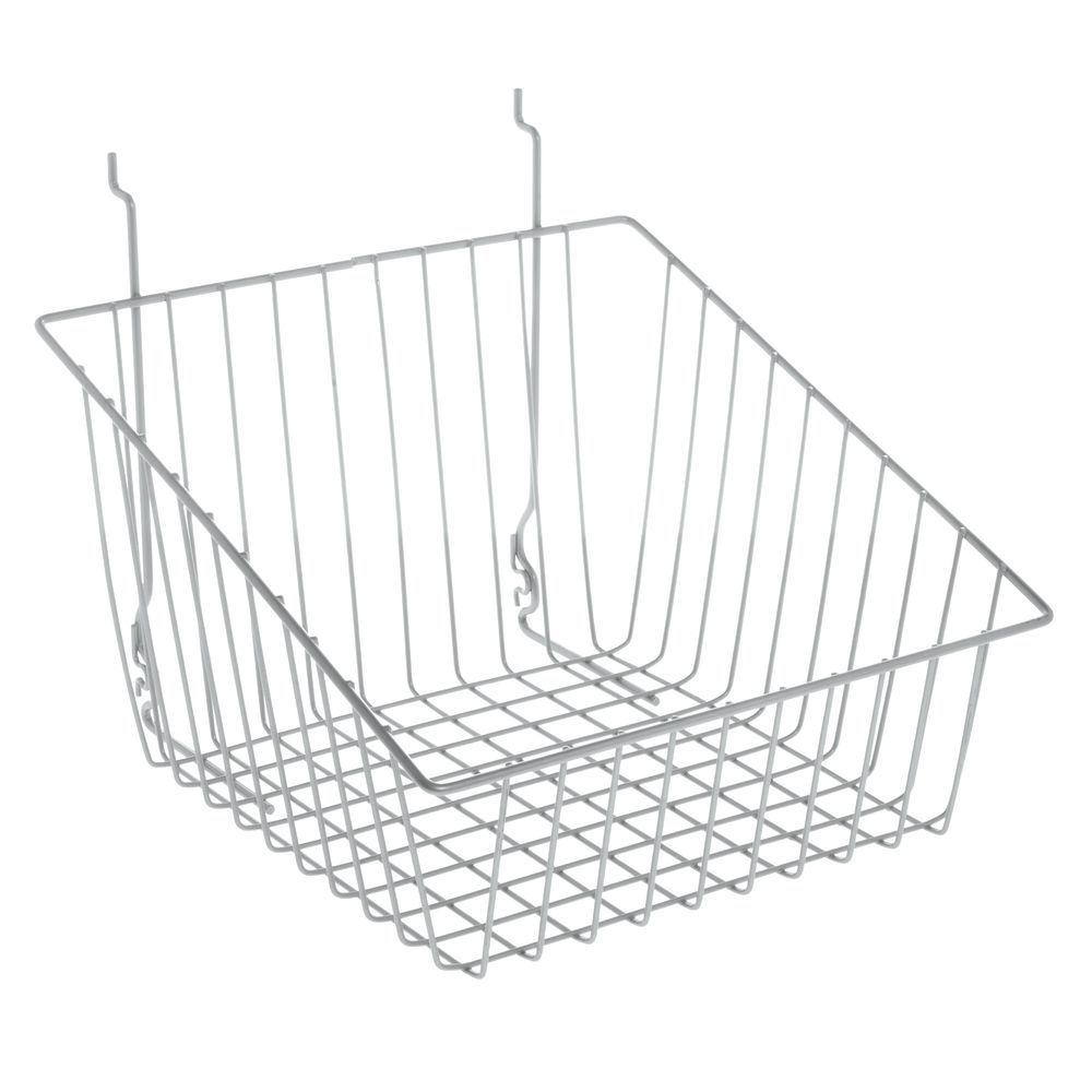 3d713829ecd Grey Wall Mounted Wire Basket