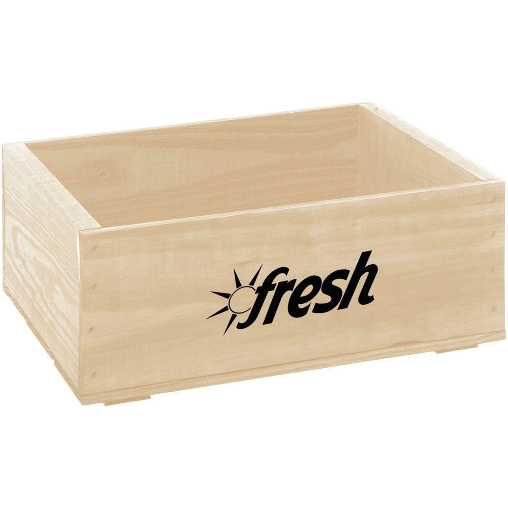 "Wooden Crate Fresh Logo Oak Small 14 3/4""L x 11 1/4""W x 5 7/8""H"