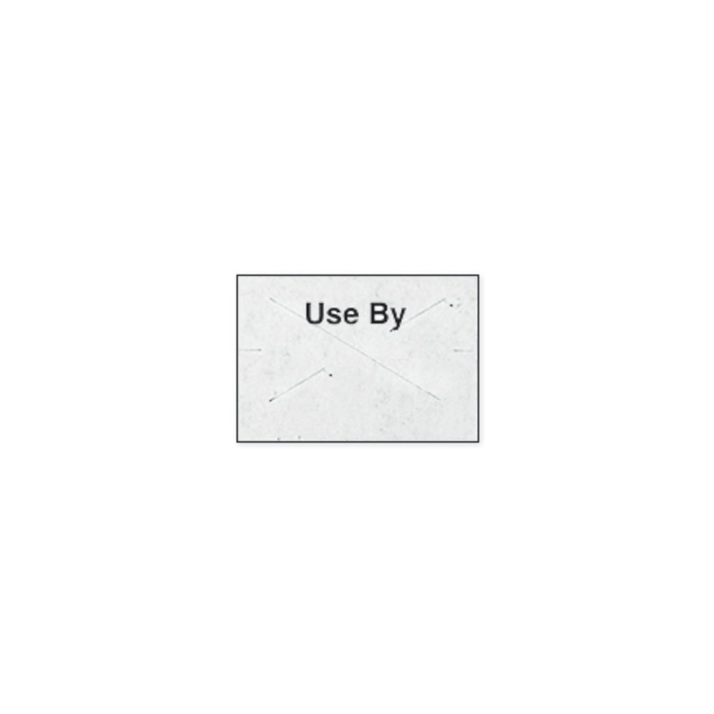 LBL, 18-6, WHITE W/USE BY IN BLK