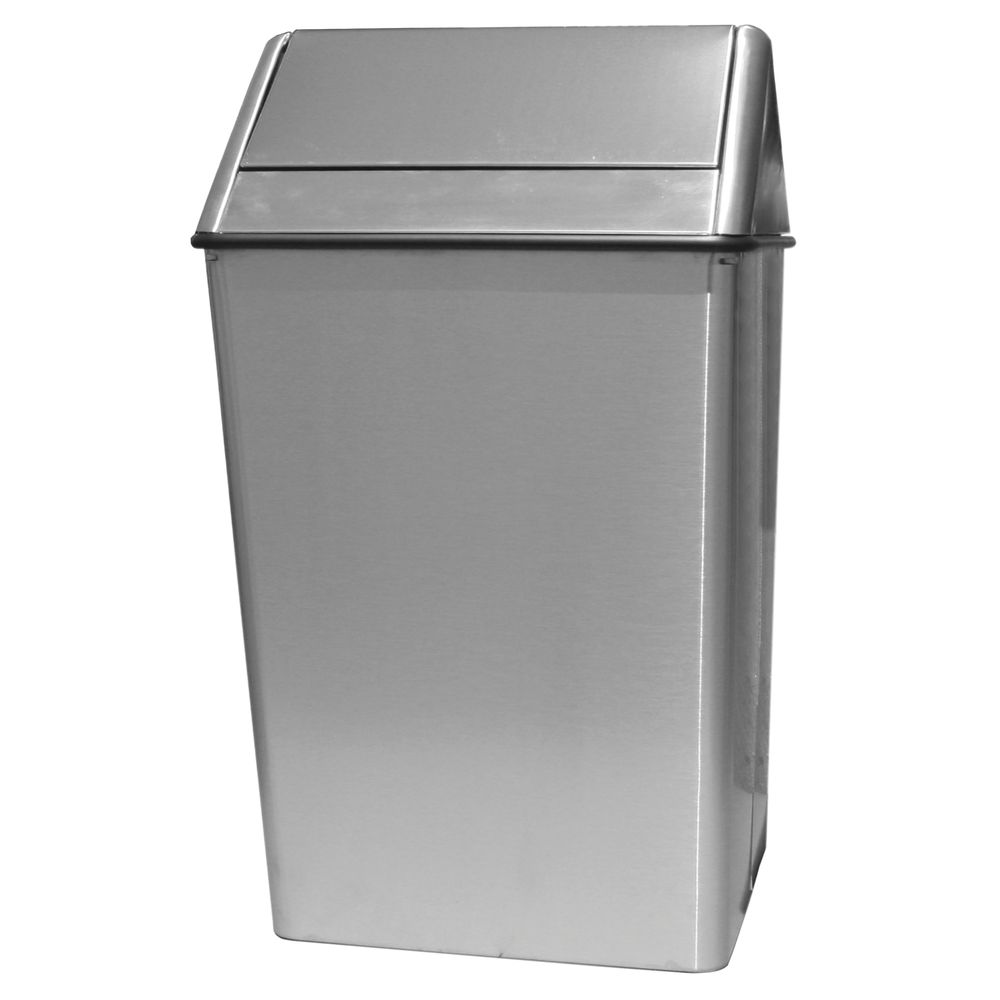 receptacle 36 gal swing top ssteel - Commercial Garbage Cans