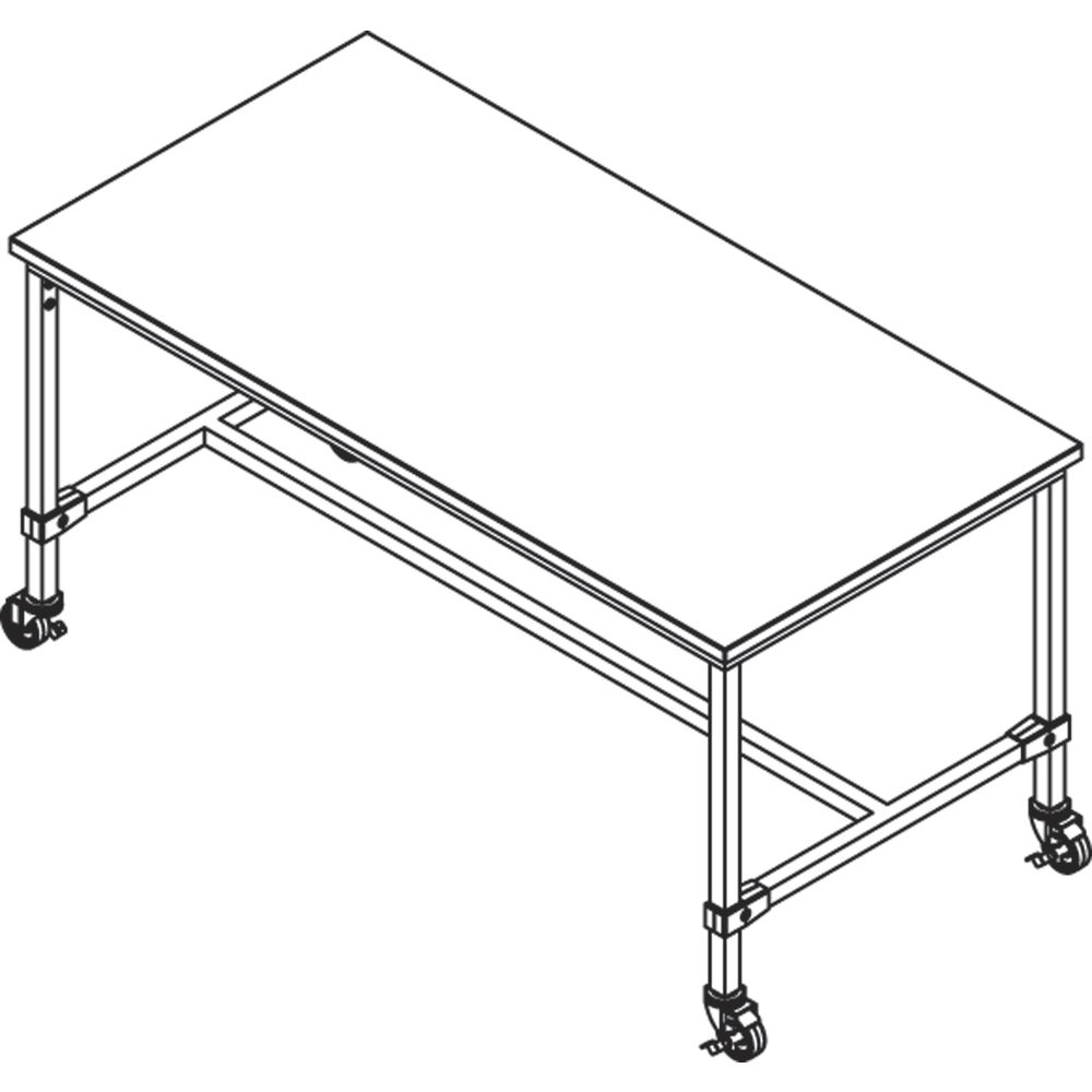 Large Silver Retail Display Tables