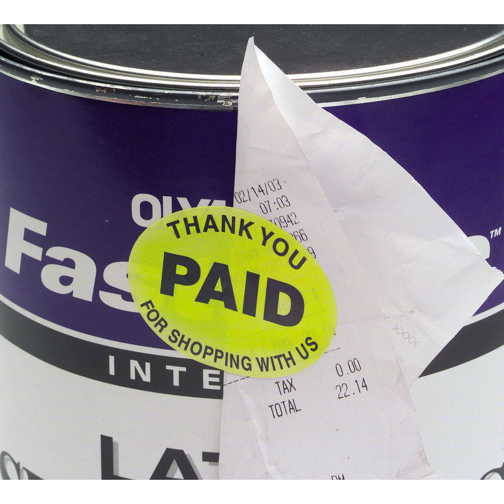 "Thank You ""Paid"" Stickers"