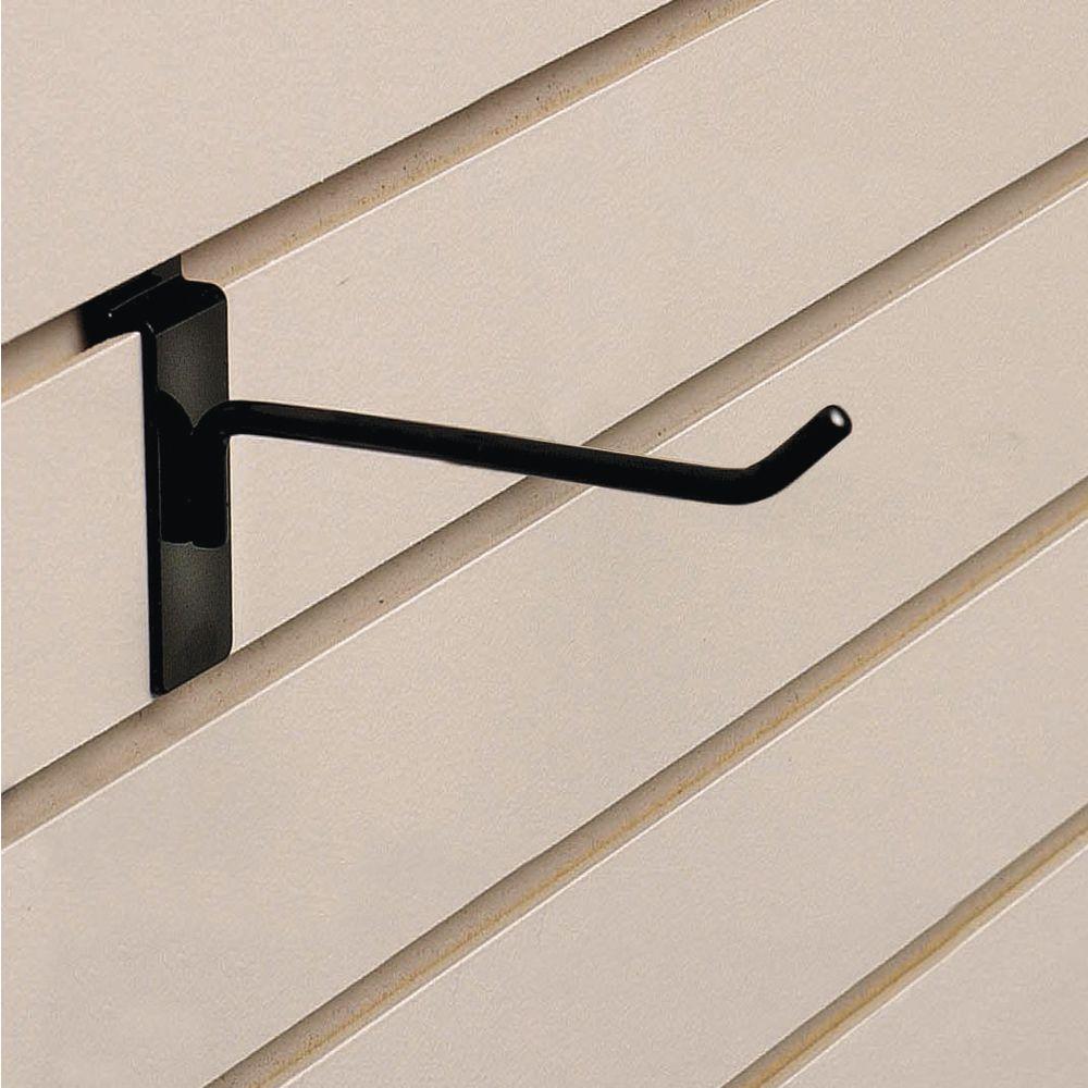 "4"" Black Slatwall Hooks"