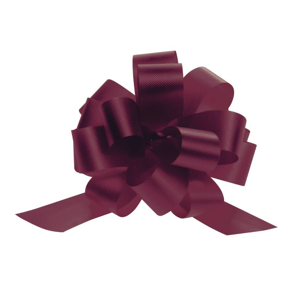 4 (W) Burgundy Pull Bows