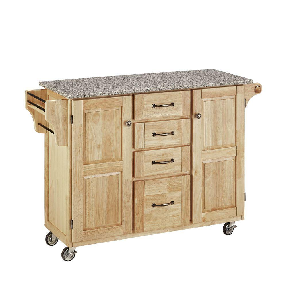 Granite Top Mobile Kitchen Cart