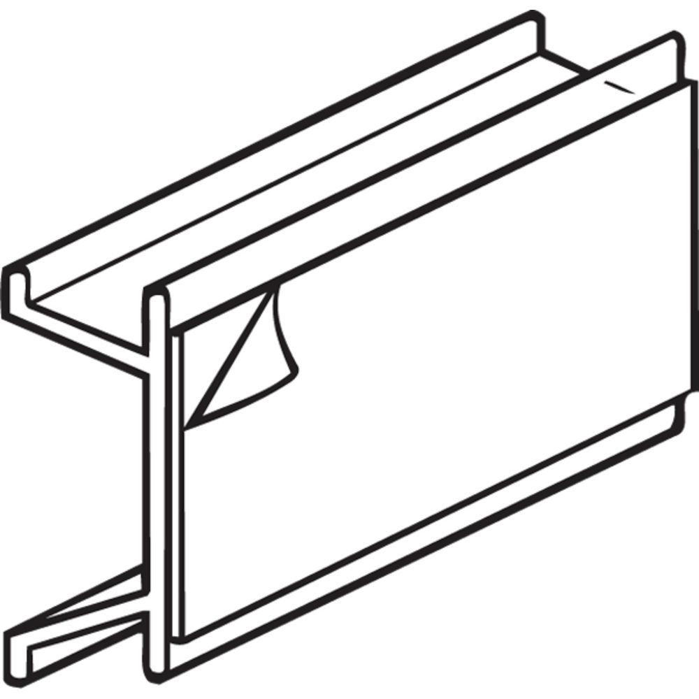 Shelf Price Tag Holder with Permanent Adhesive.