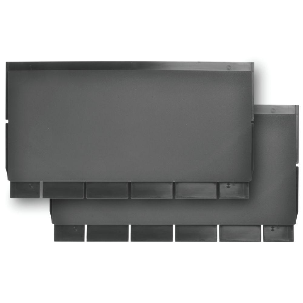 Carlisle Utility Cart Parts Back Panel Kit Black