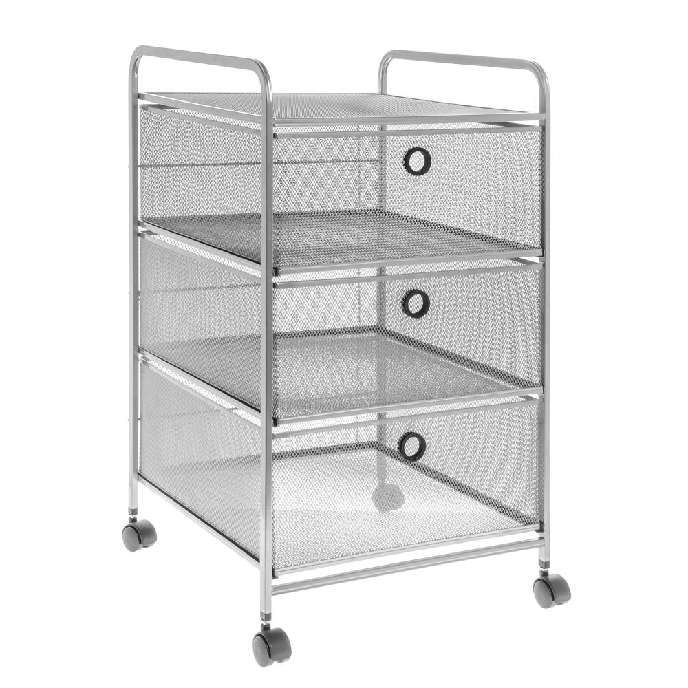 3 Drawer Wire Mesh Cart