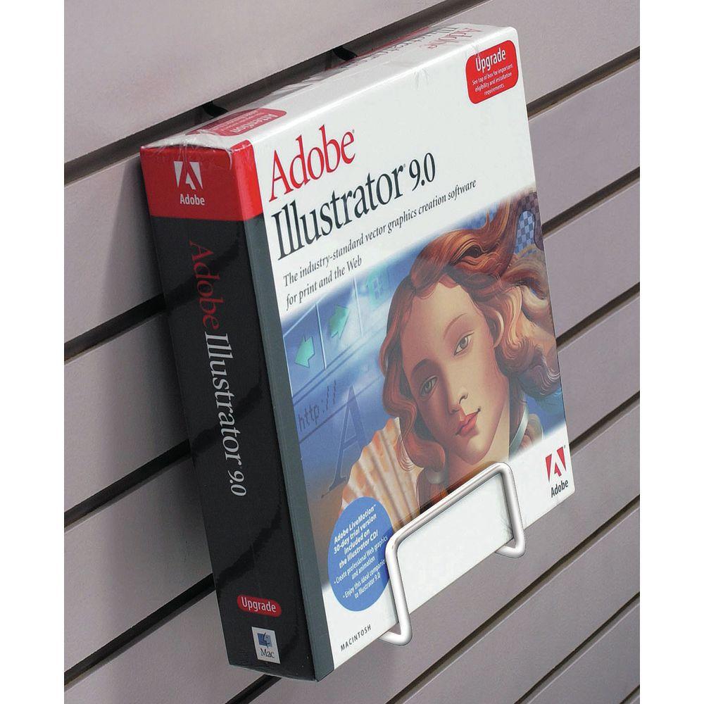 White Slatwall literature Holder